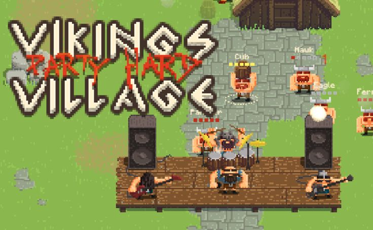Play Viking Village: Party Hard in full screen! Throw chickens, jars and punch other vikings in this big multiplayer Viking party fight, and all that while t...