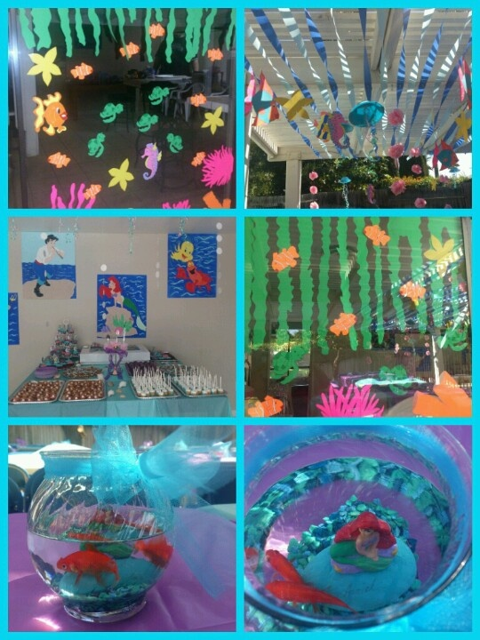 My Daughter 39 S Little Mermaid Birthday Party My Creations Pinterest Mermaid Birthday