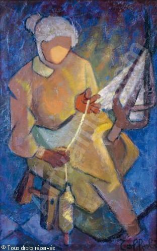 TOFFOLI Louis - LA FILEUSE  1907-1999