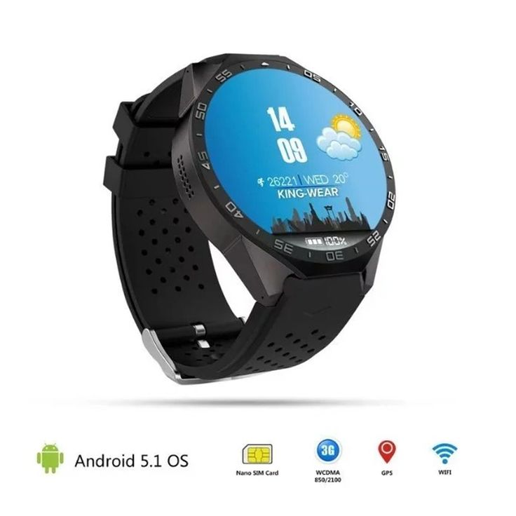 Bluetooth KW88 Android 5.1 Smart Watch Phone MTK6580 Quad Core 2.0MP Kamera smartwatch für apple xiaomi huawei handys Armbanduhr //Price: $US $123.49 & FREE Shipping //     #meinesmartuhrende