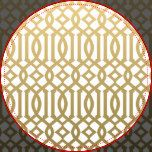 Gold and White Modern Trellis Pattern Dartboard With Darts   Zazzle