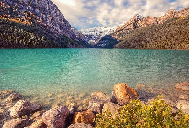 Lake Louise in Banff National Park.  Definitely want to go back to the park some day.