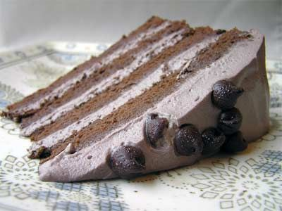 """GF """"Lighter than Air"""" Chocolate Cake I want this--and I want to ..."""