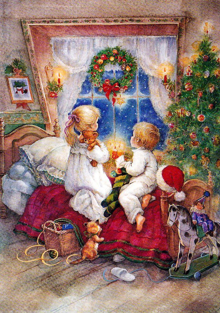 Открытки на рождество дети, милашки