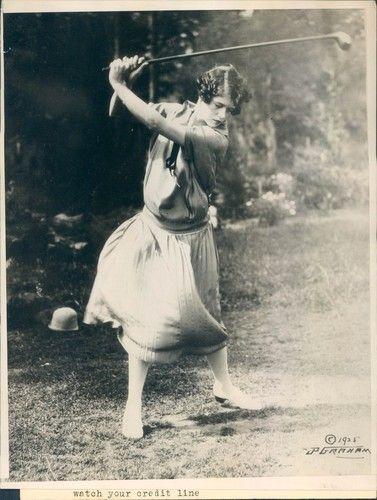 1925 Muriel Vanderbilt Richest of Family Pebble Beach Golf Course Original Photo