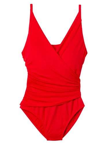 #redbookparty Slimming Swimsuits For Apple Shape Body Type - Flattering Bathing Suits - Redbook