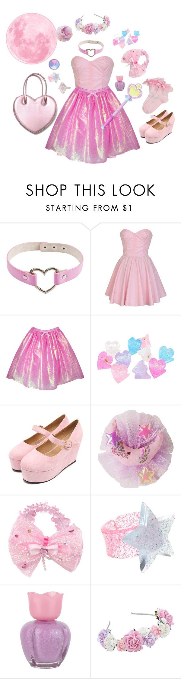 """""""Moon princess ~♡"""" by sweetpasteldream ❤ liked on Polyvore featuring ASOS, Forever 21, Bonne Bell and Judith Ripka"""