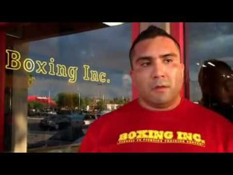 George Castro Gets interviewed at his gym Boxing