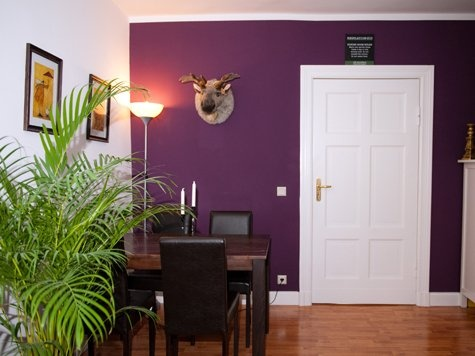 Dining room--love the purple