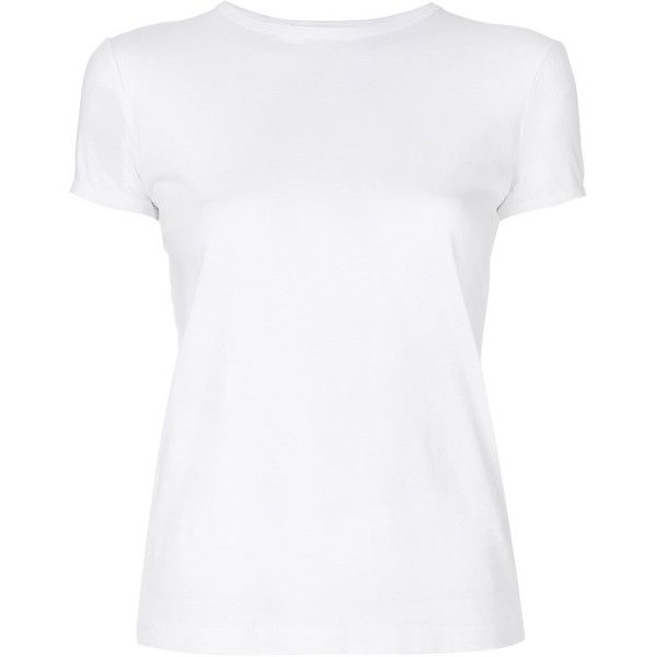 Helmut Lang Baby T-Shirt ($210) ❤ liked on Polyvore featuring tops, t-shirts, white, short sleeve tee, slim t shirts, white short sleeve t shirt, white top and short sleeve t shirt