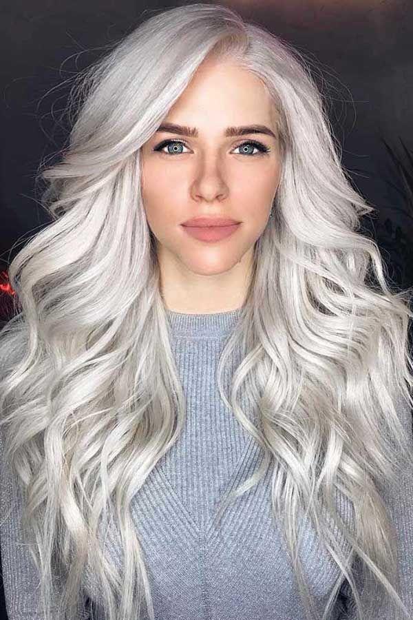 27 Granny Hair - A Cor Cinza da Moda + Passo a passo! | Cabelo loiro platinado, Cabelo loiro branco, Cores de cabelo