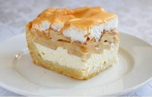 Tvarohovo jablkový koláč