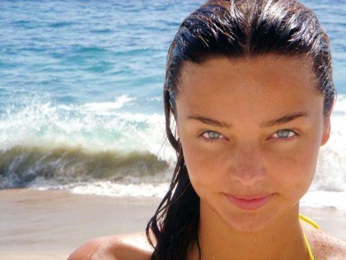fresh look.: Mirandakerr, Miranda Kerr, Beaches Beautiful, Au Natural, Make Up, Facials Makeup, Beaches Shooting, V Magazine, Beautiful People