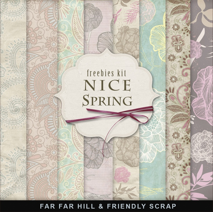 Far Far Hill: Freebies Spring Background