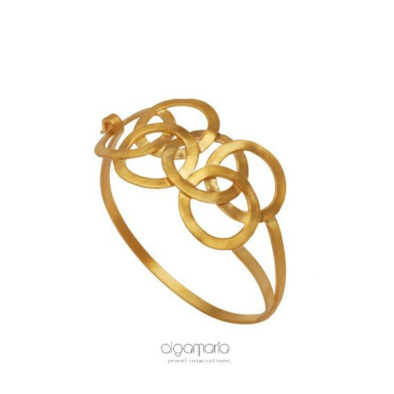 Statement Bracelet Gold Bracelet Geometric by JewelInspirations