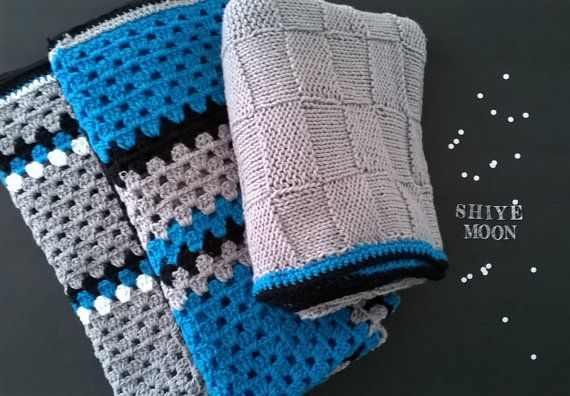 Carolina Panthers/Panthers Blanket/Children's Panthers Blanket/Carolina Panthers Football/Cam Newton/Sir Purr/Crochet Granny Square/Panthers    Carolina Panthers hand crocheted granny square children's blanket. In Carolina blue, black and gray.    Made of acrylic yarn that is machine wash and dry.    ======== Follow shiyemoonstudio on instagram and Pinterest for store updates, specials, new products, markets and more!!!======== | Shop this product here: http://spreesy.com/shiyemoon/40 | Shop…