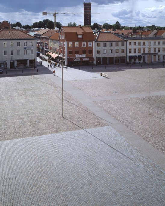 Caruso St John Architects 1999–2003 Location: Kalmar, Sweden Client: Municipality of Kalmar Project Status: Built  Caruso St John Architects worked with the artist Eva Löfdahl in this project for the renewal of the town square around the baroque cathedral at the centre of Kalmar. The commission was initiated by the Swedish Arts Council, and began with an international competition. The project is intended to be a model of imaginative renovation in a situation of national historic…