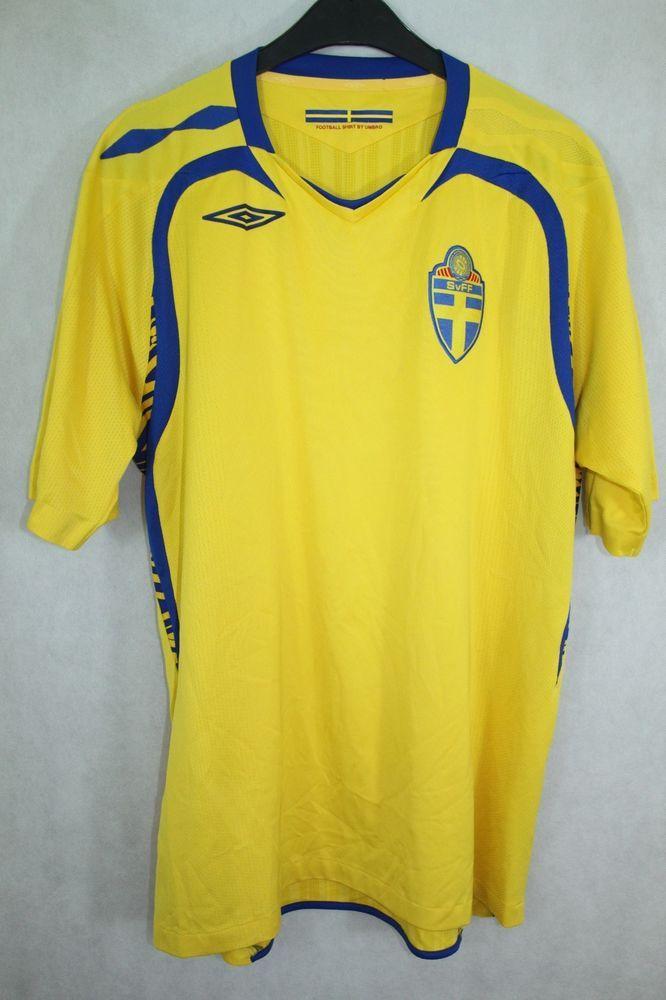 aabe4f7f054 UMBRO SWEDEN FOOTBALL NATIONAL TEAM 2007   2009 HOME JERSEY SHIRT sz M  MEDIUM  Umbro