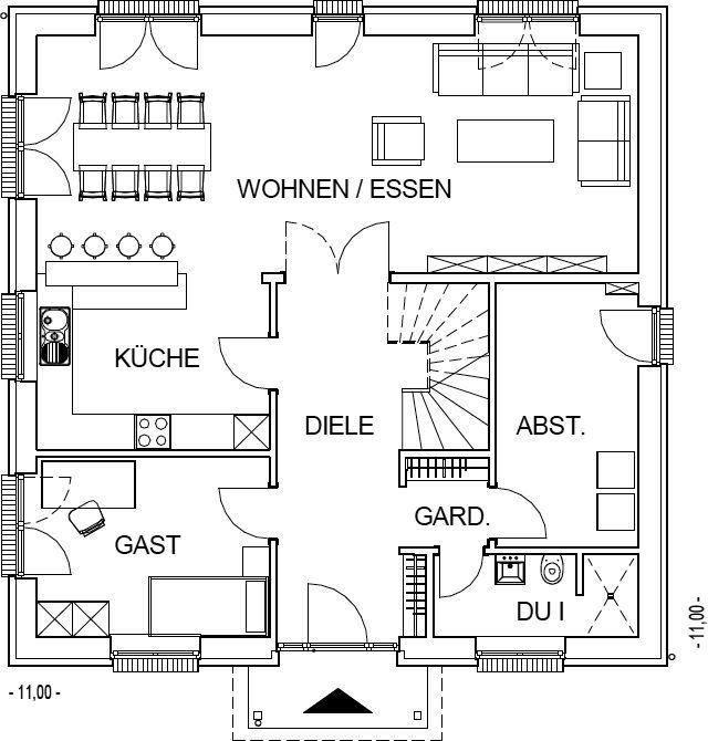 die besten 25 grundriss einfamilienhaus ideen auf pinterest hausgrundrisse einfamilienhaus. Black Bedroom Furniture Sets. Home Design Ideas