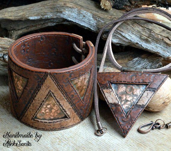Brown jewelry Brown bracelet Brown cuff by HandmadeByAleksanta
