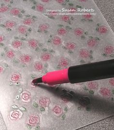 Things to do with embossing folders | roses embossing folder and colored the roses directly on the folder ...