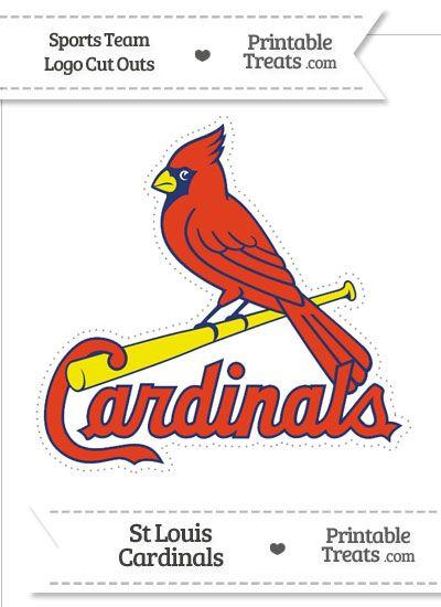 Large St Louis Cardinals Logo Cut Out from PrintableTreats.com