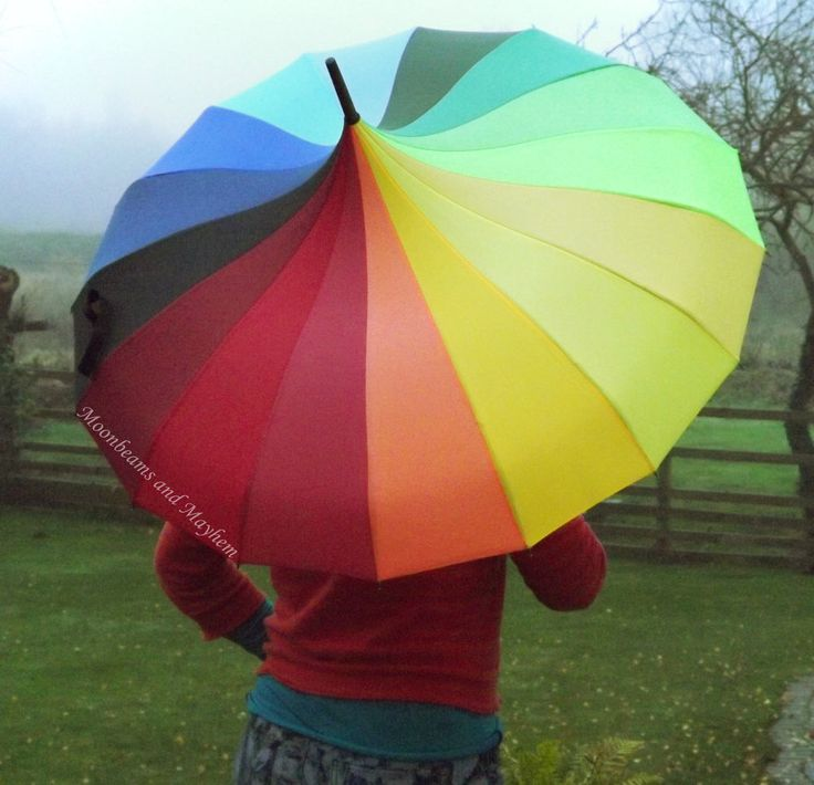 ♥ SPECTACULAR NEW RAINBOW PAGODA UMBRELLA HIPPIE FESTIVAL TIE DYE DREADS BROLLY