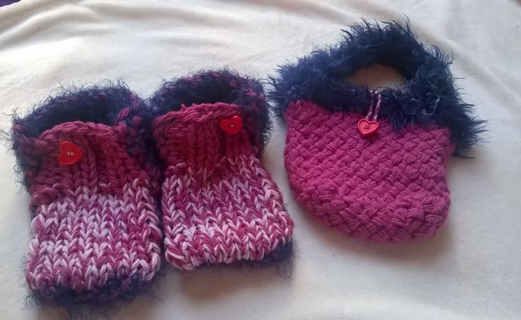 Matching Slipper bootie & bag set