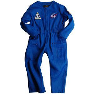 Alpha Blue Kids Nasa Astronaut Flight Suit W Patches