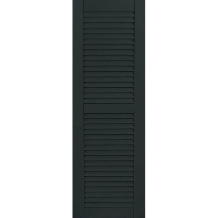 Ekena Millwork 18 in. x 40 in. Exterior Composite Wood Louvered Shutters Pair Dark Green