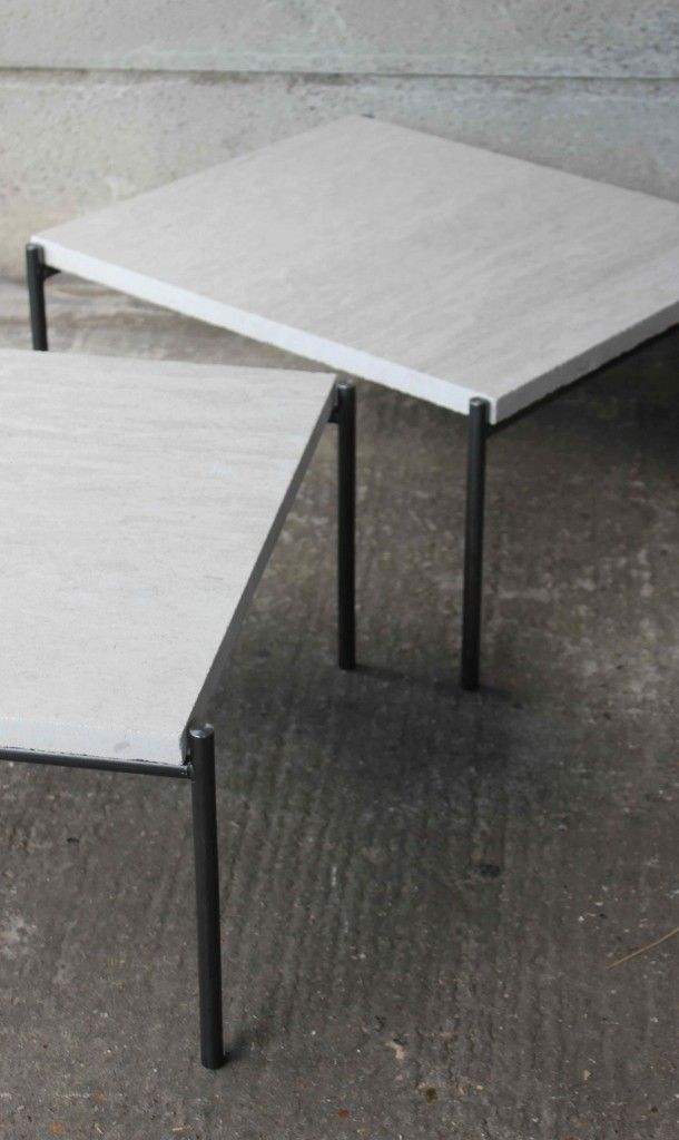 Stone and Steel Coffee tables, Dean Edmonds, for 1 9 3 4   1934