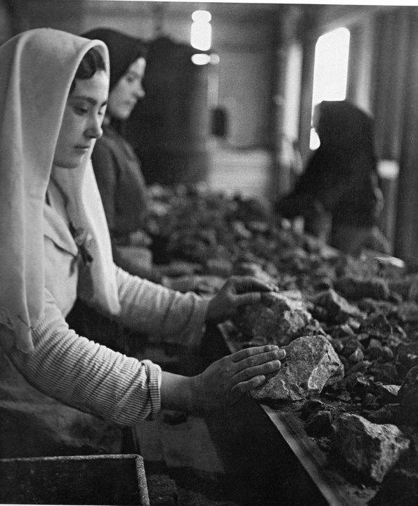 Montevecchio, cernita del minerale, 1938 - Vincenzo Aragozzini