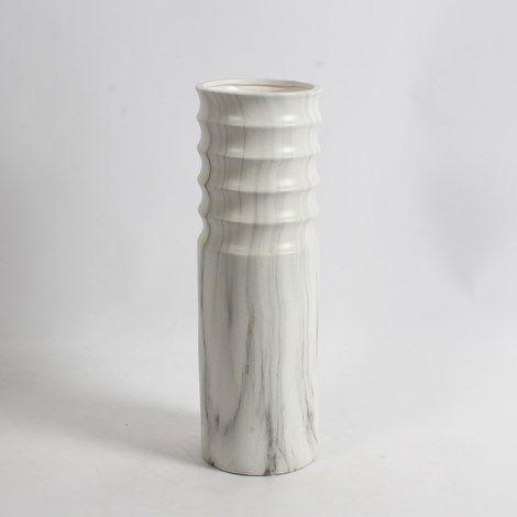 """15.25"""" H Marble Look Round Ceramic Vase Large www.lambertpaint.com"""