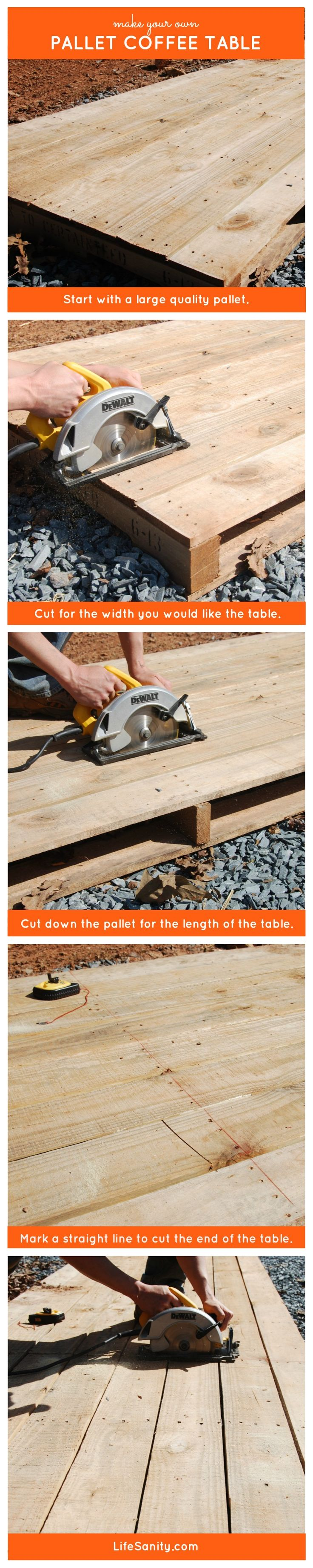 Make Your Own Pallet Coffee Table   Life Sanity