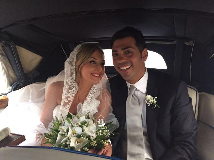 Matrimonio estivo. Valeria sposa d'estate con un abito nuziale by Elena Colonna.