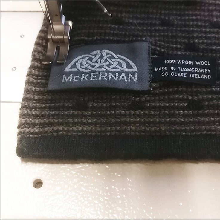 The final detail to all our scarves | McKernan Woollen Mills | Irish Handmade Scarves | Made in Ireland | Irish Design | Weaving | Knitting | Womens Accessories