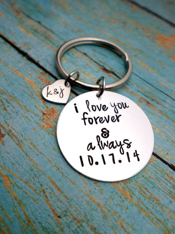 A custom keychain PERFECT for an inexpensive, thoughtful gift for your 'main man'. Show your loved ones you thought about them by personalizing a gift that they could never have purchased in a store. *Just Leave DATE and INITIALS in the Notes at Checkout*** ** These are custom made, so if there are any changes you would like: feel free to do so! During checkout, you have an option to add a note on your order for any specifications or adjustments. All necklaces and keychains come...