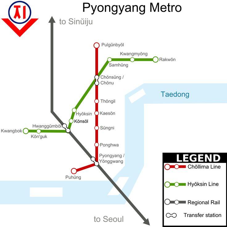 Die #U-Bahn in #Pyongyang ist das schnellste Transport System in der Nordkoreanischen Hauptstadt. Es ist eines der wesentlichen Transport Systeme der Stadt. Es gibt 2 Linien mit einer Gesamtlänge von 22, 5 Kilometer. Momentan sind 16 Stationen mit dieser Linie verbunden und alle befinden sich im Untergrund. Pro Tag fahren zwischen 300,000 bis zu 700,000 Menschen. Die Transport und Kommunikation Kommission betreibt dieses U-Bahn System.
