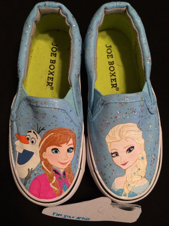 Custom Designed Hand Painted Shoes Kid Sizes by TheSoleArtist