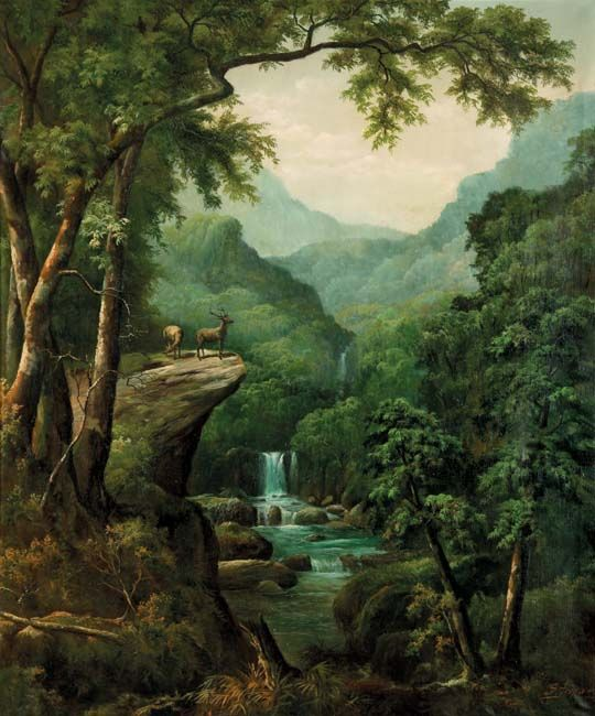 S. Toyo (Blitar, 1935 – Malang, 2000), Waterfall.