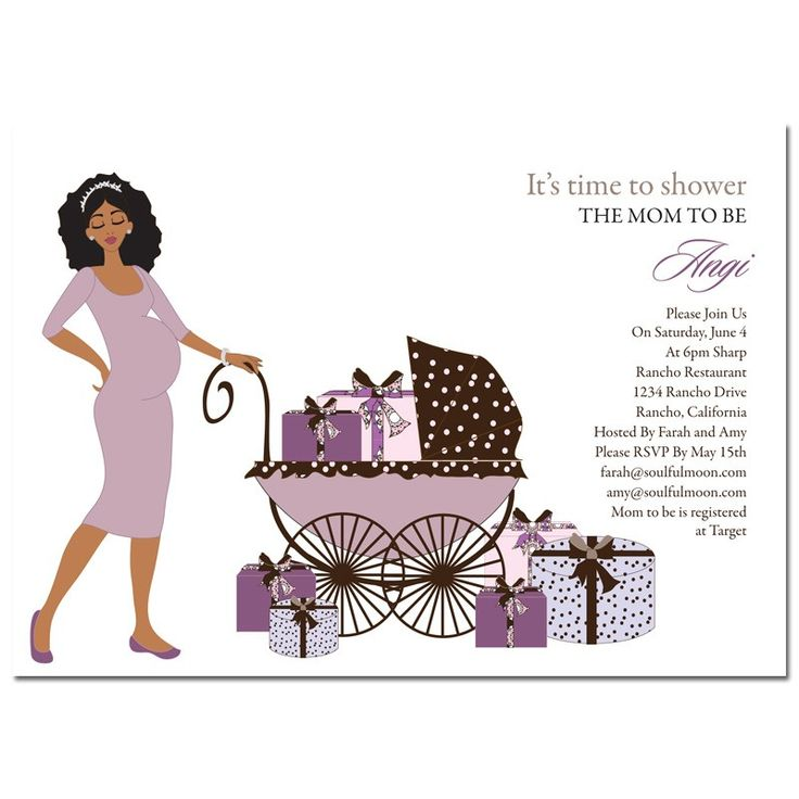 25 Best African American Baby Shower Invites Images On Pinterest