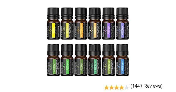 Anjou Aceites Esenciales 12 Pcs Aceites Esenciales Para Difusor 100 Natural Pura Lavanda árbol De Té Eucalipto Na Hierba De Limón Aromaterapia Lavanda Hierbas