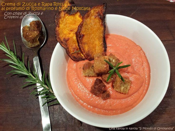 Una deliziosa Zuppa autunnale con tanta zucca, rape rosse e profumata al rosmarino