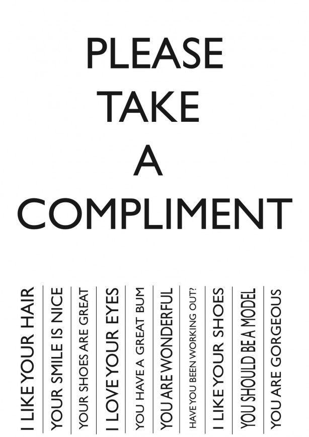 Wie wil er nou niet worden verwend met een compliment?!