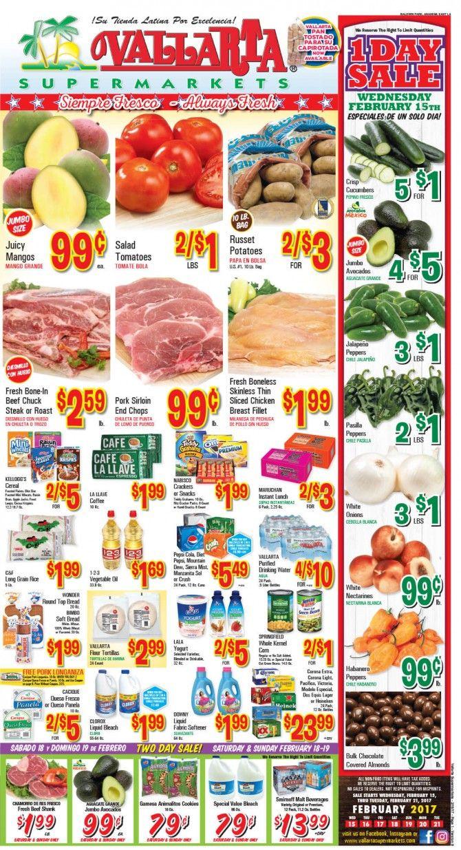 Vallarta Weekly Ad Flyer February 15 - 21, 2017 - http://www.olcatalog.com/grocery/vallarta-weekly-ad-fleyer.html