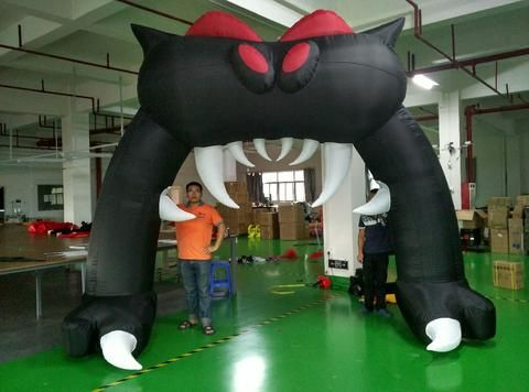 included air blower 4*3m halloween  inflatable  arch  for decoration Fast Free shipping