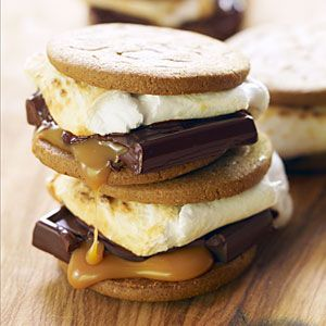 38 easy camping recipes | Ginger and Caramel S'mores | Sunset.com