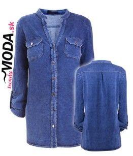 Trendy džínsova košeľa pre moletky - trendymoda.sk