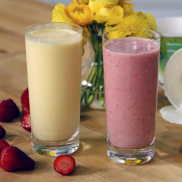 Get the recipe: Jamba Juice Mango-A-Go-Go and Strawberries Wild smoothie                  Image Source: POP...
