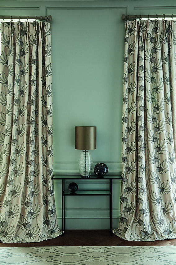 These silk curtains are made up in Plume, we love …